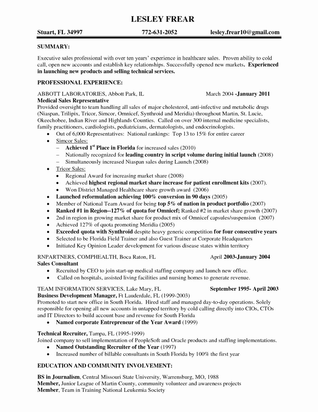 Fresh Cold Calling Resume in 2020 Sales resume examples