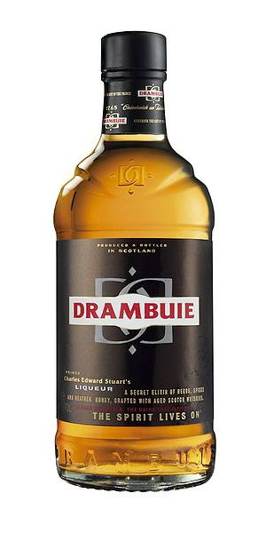 Drambuie, a herb and honey flavored liqueur made out of malt whiskey, honey heather, herbs and spices. Scotland.