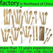 Disposable Bamboo Cutlery Set, Biodegradable Bamboo Disposable Cutlery