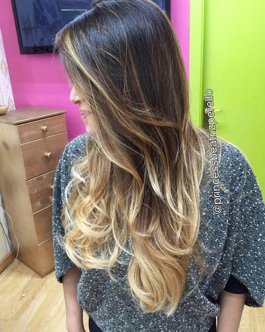 Blond balayage ombre color por atrizperellowebnode