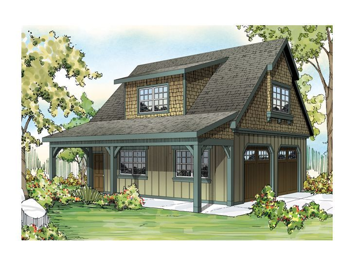 Garage with loft 0052 garage plans and garage for Carriage house plans cost to build