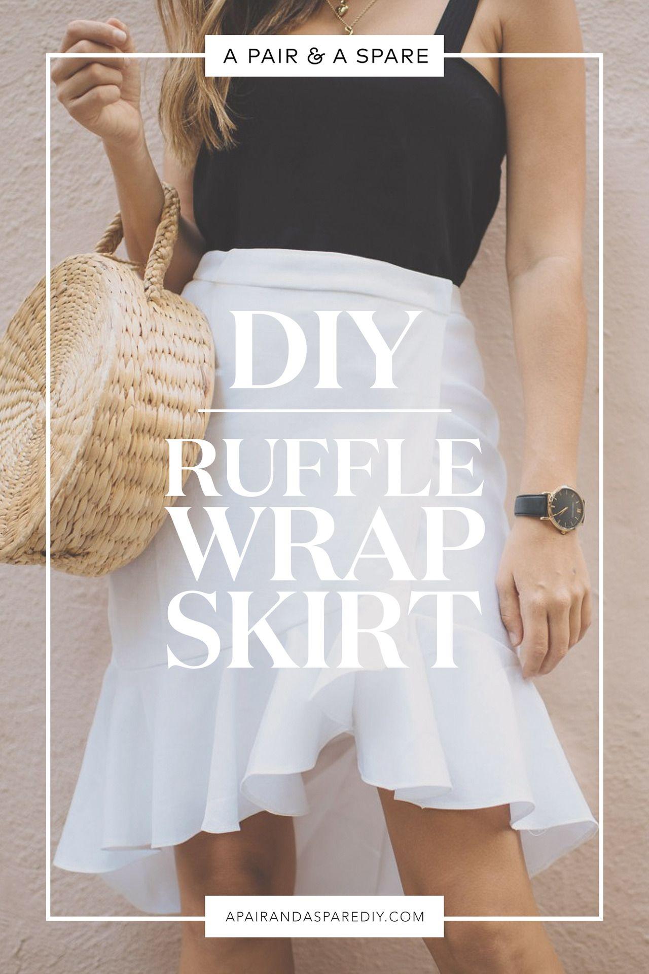 DIY Ruffle Wrap Skirt   C y C   Pinterest   Costura, Patron falda y Ropa