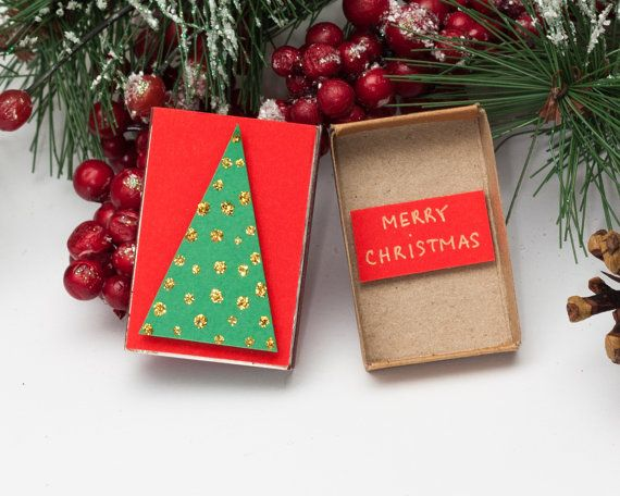 sale christmas card christmas tree matchbox personalized christmas card cute holiday new - Cheapest Christmas Cards