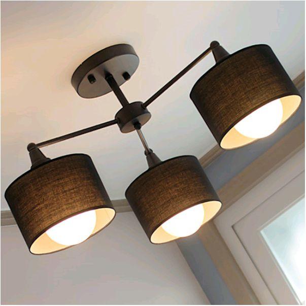 Creative modern Bedroom Fabric Ceiling Lamp   Rustic ...
