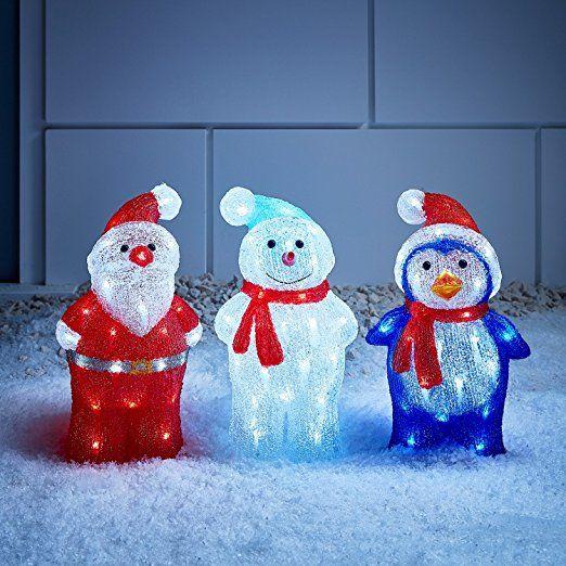 LED Acryl Pinguin Figur 34cm innen und außen Lights4fun: Amazon.de ...