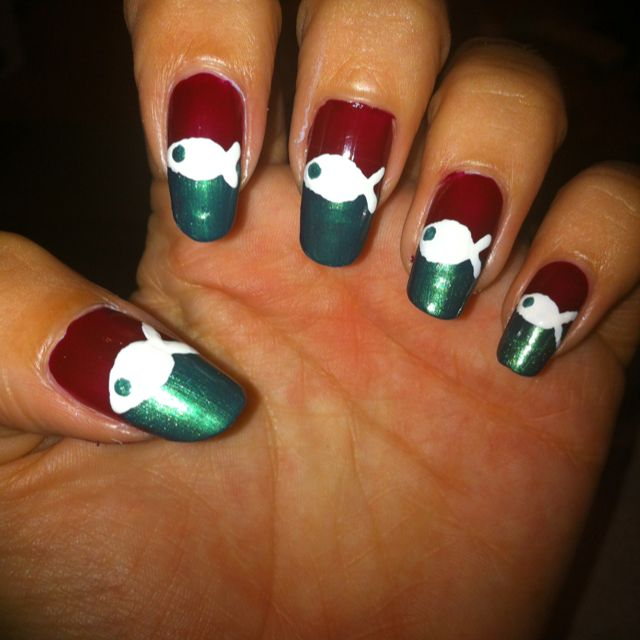 My nail art for tomorrow, play on the Italian flag in honor for the ...