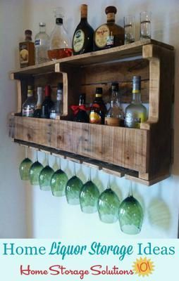 Liquor Storage Ideas Solutions Rustic Wine Racks Decor Home