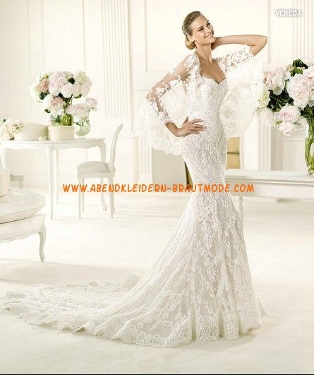 2013 Luxuriöse Brautkleider mit Spitze Meerjungfrau mit Schleier ...