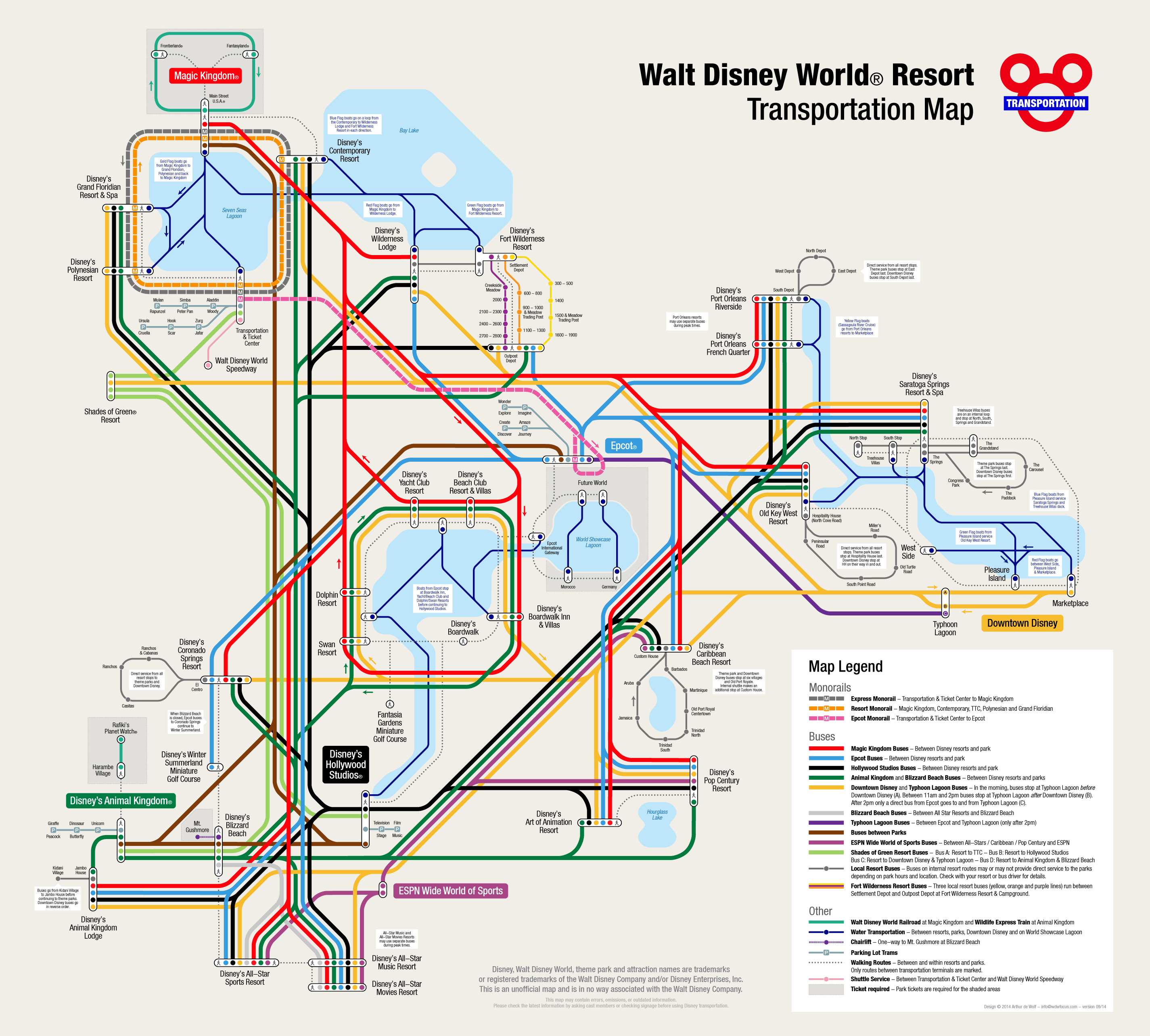 Disney World Transportation Map Fantastic WDW Transportation Map! | Disney Vacation Planning
