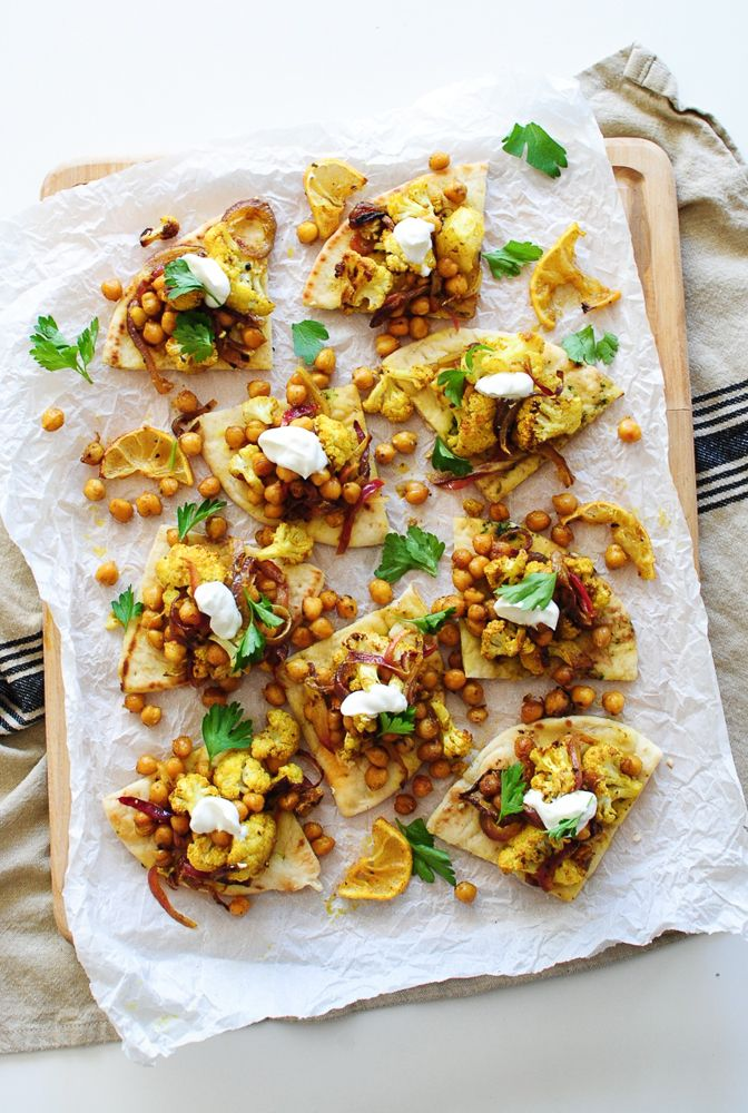 Roasted Indian Cauliflower and Chickpeas