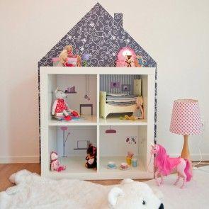wandfolie m bel villa f r puppenhaus ikea kallax regal. Black Bedroom Furniture Sets. Home Design Ideas