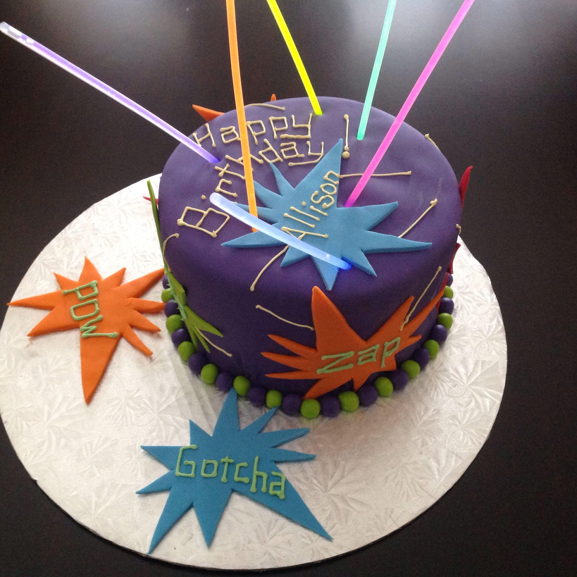 Laser Tag Birthday Laser Tag Cakes Pinterest Laser Tag