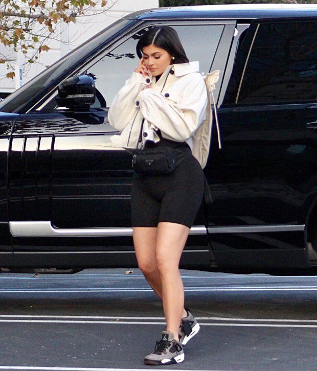 First pictures of Kylie Jenner after baby Stormi's