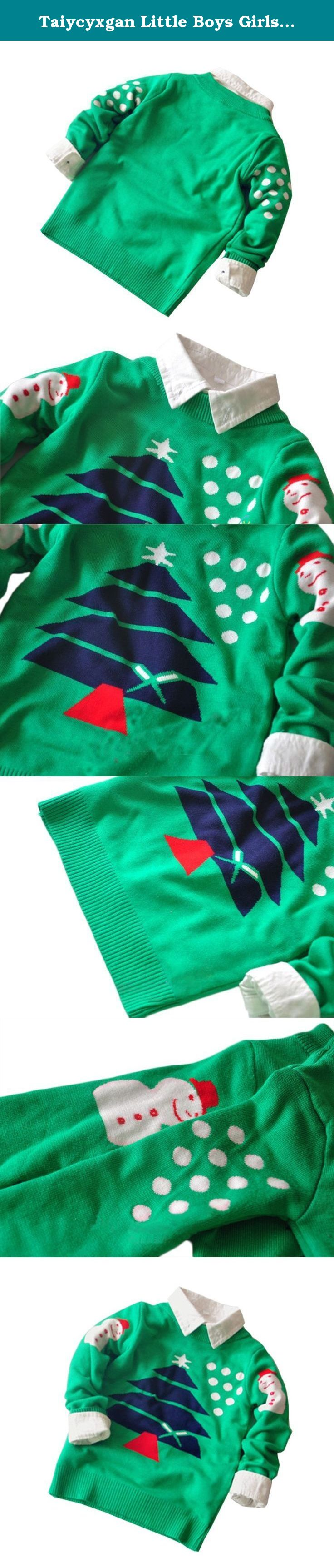TAIYCYXGAN Little Toddler Boys Girls Christmas Tree Sweatshirt Spots Sweater