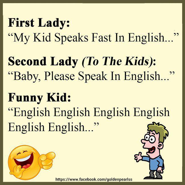 Funny Joke Lady Vs Kid English Language Funny Funny English Jokes English Jokes