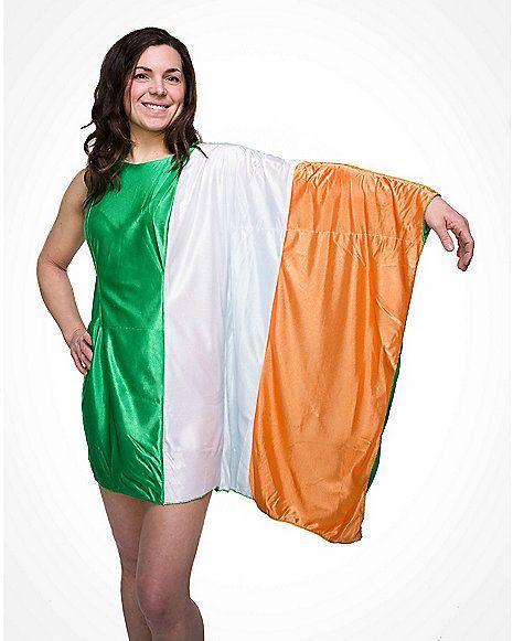 ed0e7ecf38eb8 Ireland Flag Dress Adult Womens Costume - Spencer's | Paddy | Flag ...