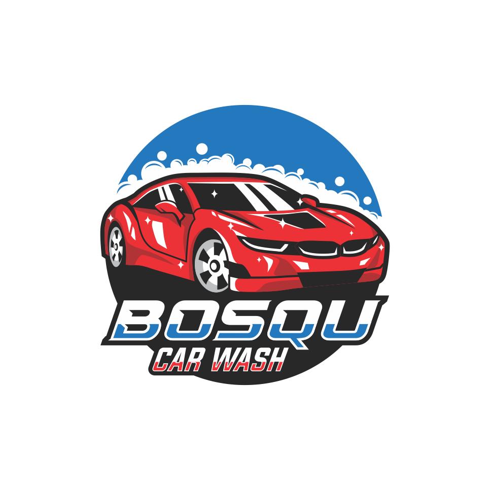 Portofolio Jasa Desain Logo Cucian Mobil Motor Untuk Bosqu Car Wash Di 2021 Desain Logo Mobil Motor