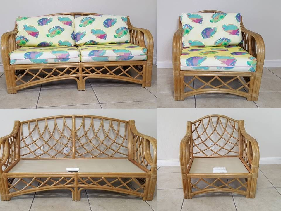Lane Venture Grand Cayman Rattan Indoor Sun Room Furniture 2 Piece Set Laneventure Nautical