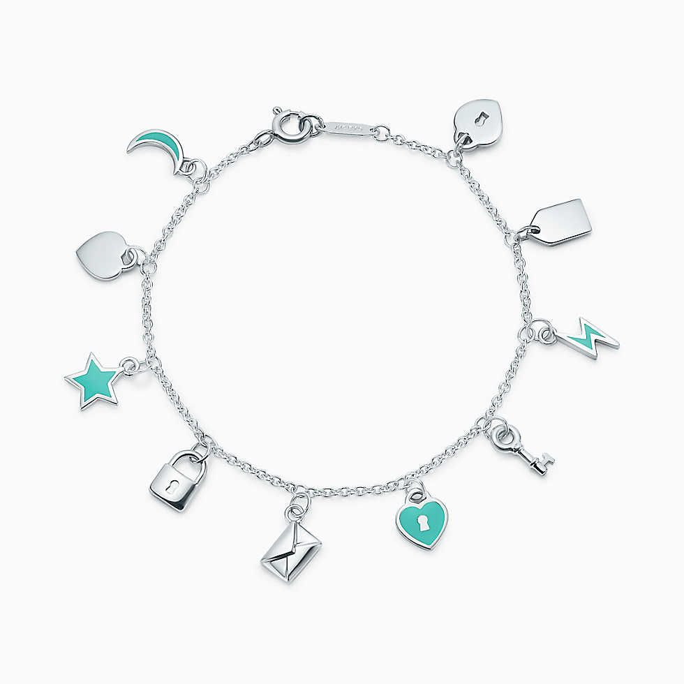 Tiffany Charms Love Notes Dangle Charm Bracelet In Sterling Silver