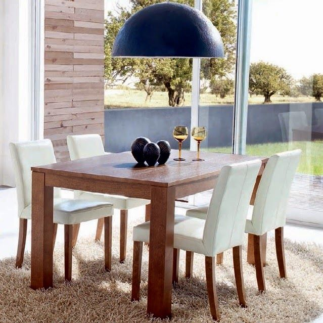 Comedor de expormim. mesa rectangular extensible y sillas ...