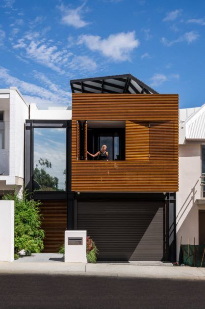Dise o de peque a casa de dos pisos moderna estructura de Disenos de casas contemporaneas pequenas