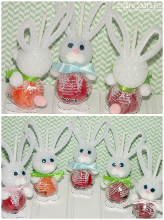 Diy Lollipop Easter Bunny Er Gift Ideas