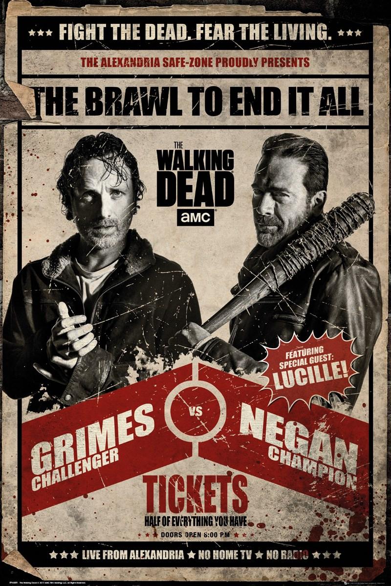 The Walking Dead Fight Poster The Walking Dead Poster The Walking Dead Tv Fear The Walking Dead