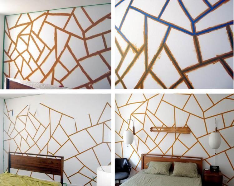 Pintar paredes con figuras geométricas. Guía de cómo hacerlo..