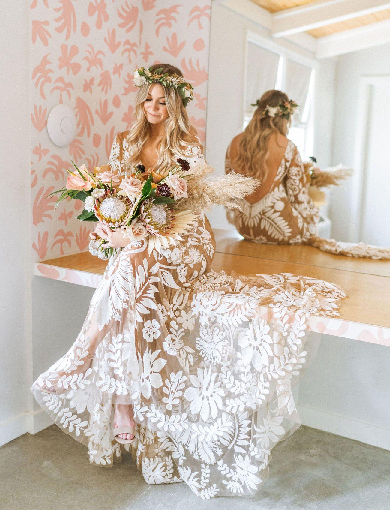 Boho Engagement Dress