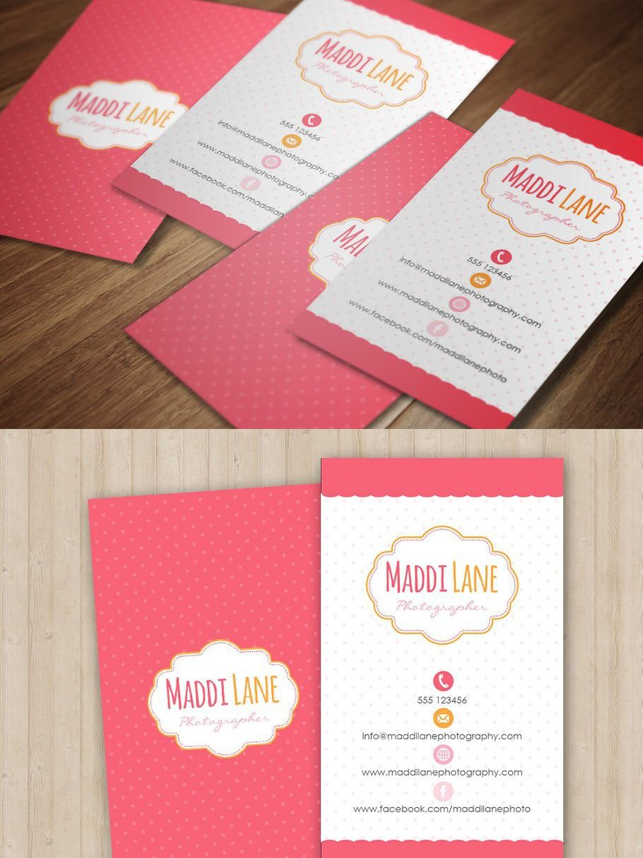 Girly Business Card Template Girly Business Cards Business Cards Creative Templates Business Cards Creative