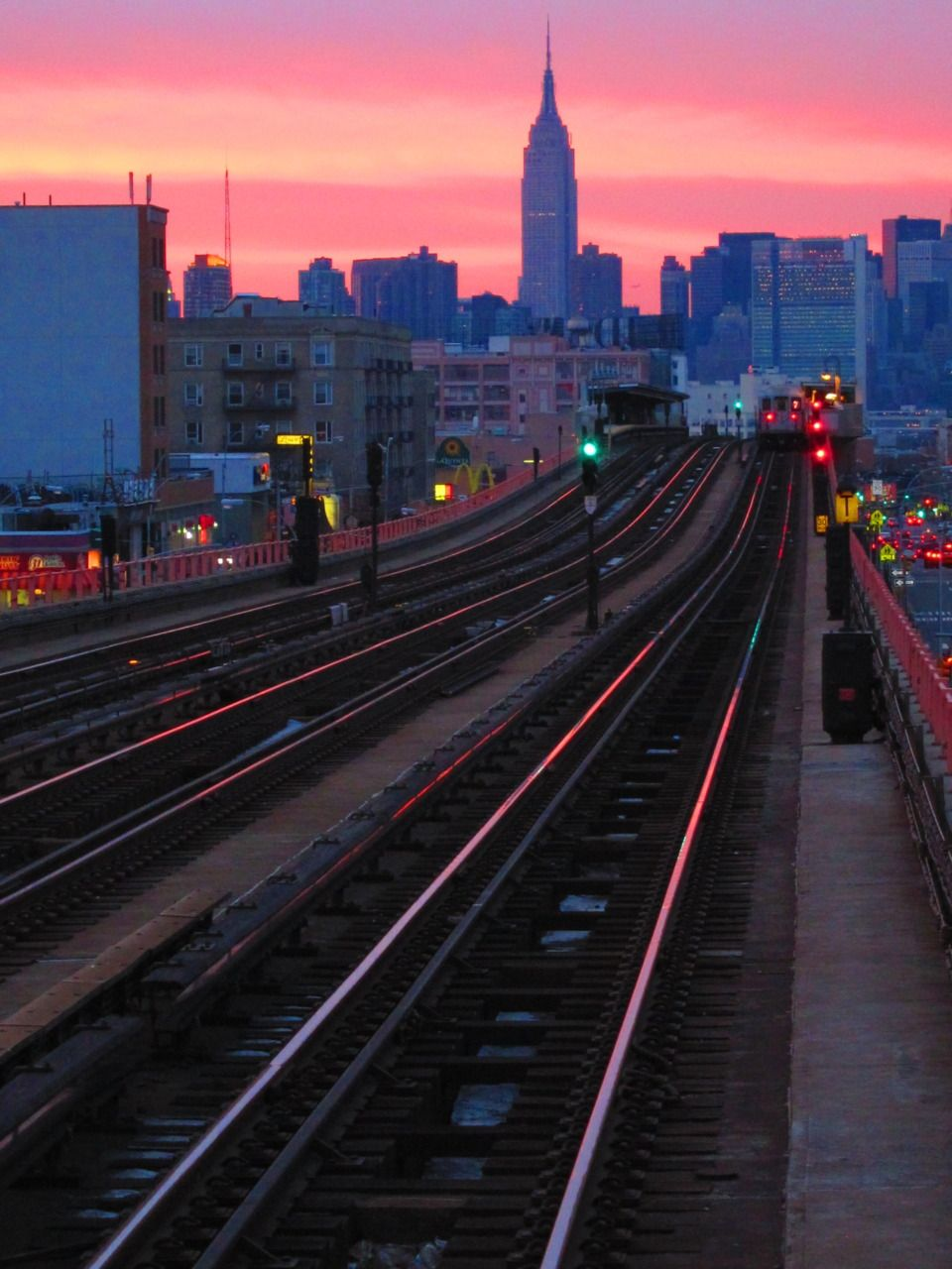 manhattan nyc new york city skyline sunset skyscrapers