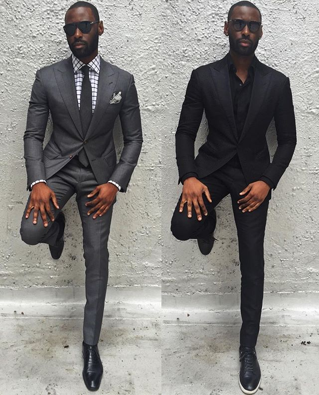 Two colors a well dressed man can never go wrong with.. Which one ...