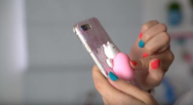 86849d8a12c47 Como fazer capinha de celular anti-stress, popsocket hand spinner, gatinho  e ovo