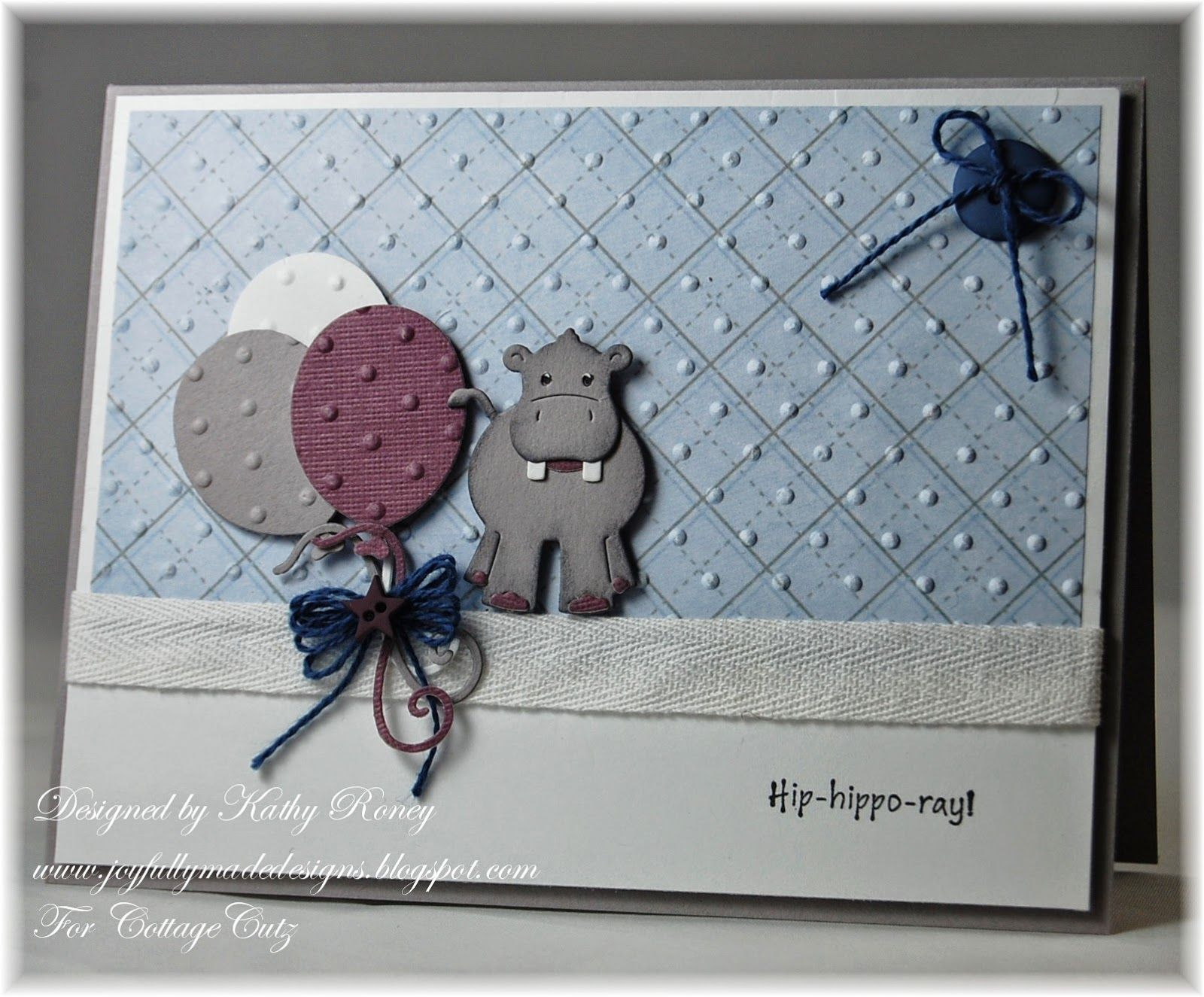 Image result for cards made using Cottage Cutz baby hippo