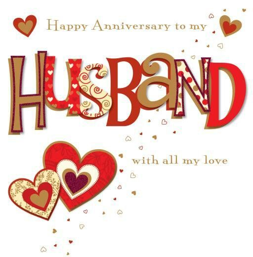 happy anniversary to my husband on facebook