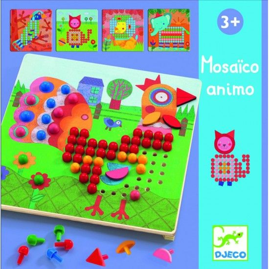 Djeco Kolíčková mozaika ANIMO