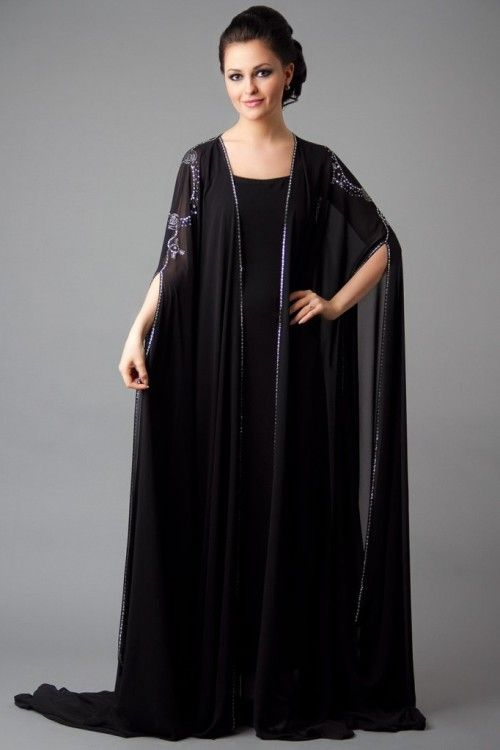 black plain abaya-gown designs collection for women | Fashion ...