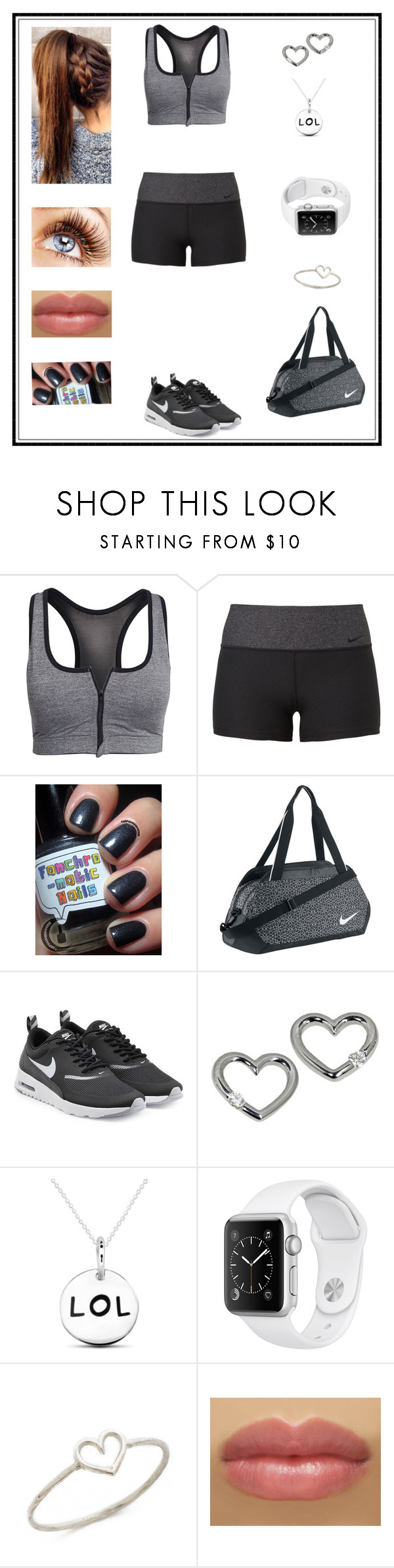 """Untitled # 249"" by binasa87 ❤ liked on Polyvore featuring Drop Of Mindfulness, NIKE and Aurélie Bidermann"