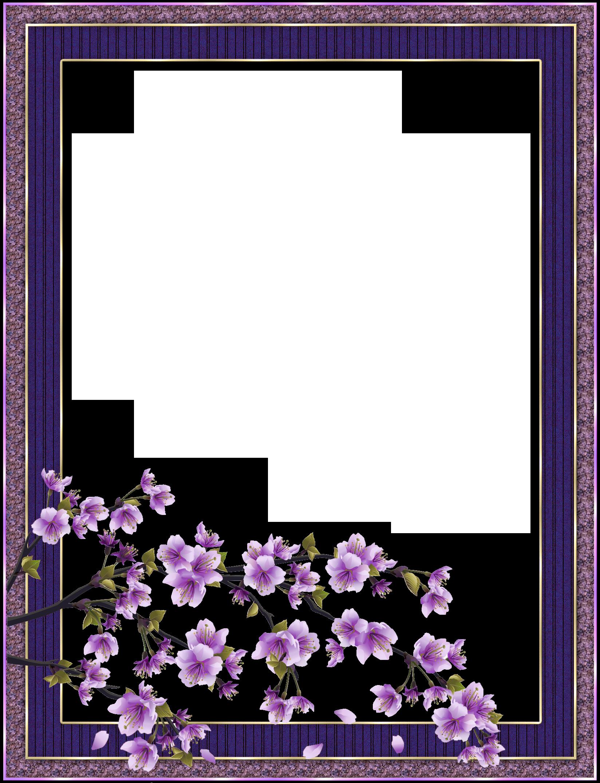Рамка для открытки фиолетовая, международным днем