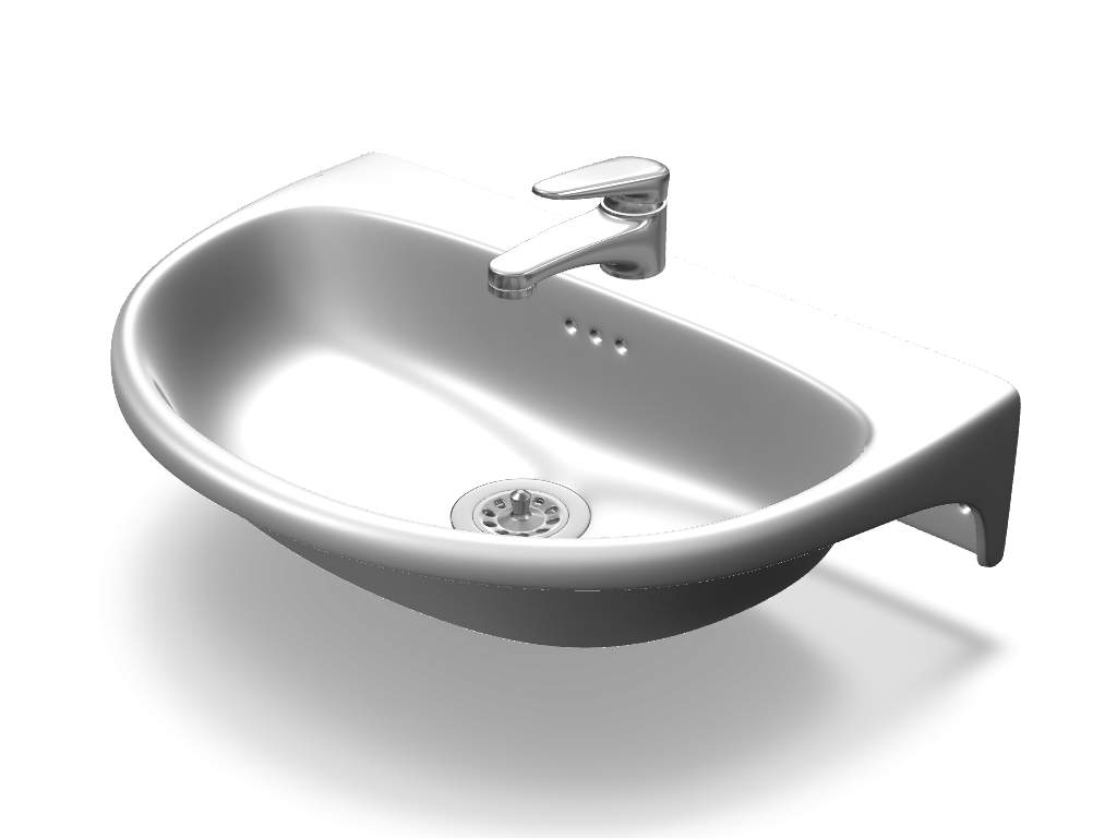 Sink Tap Modell : Bathroom sink with tap a d model created vectary the