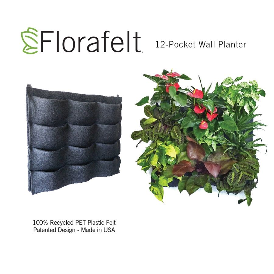 Create Vertical Gardens And Living Walls Easily With Pre Made Felt Pocket  Planters. More