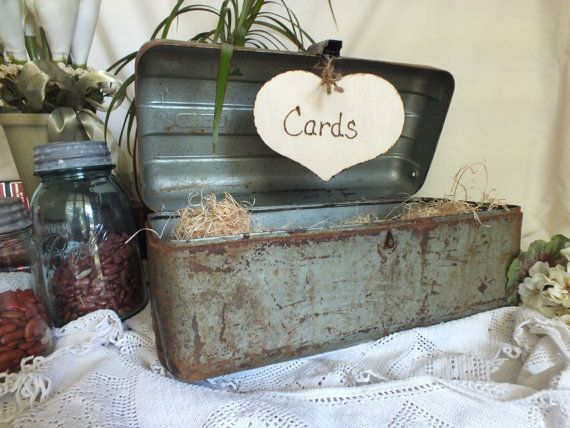 Wedding Card Box Vintage Fishing Tackle Box Perfect Could Close The Tackle Box And Make A Sl Card Box Wedding Wedding Card Box Vintage Fishing Themed Wedding