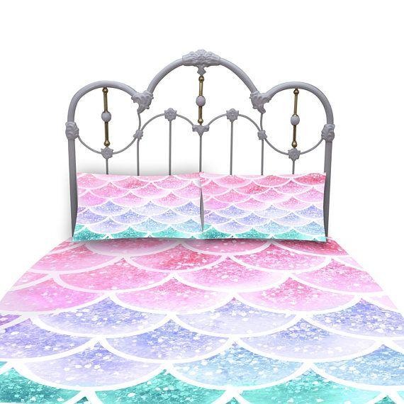 Pastel Mist Mermaid Scales Comforter Or Duvet Cover Set Twin Full