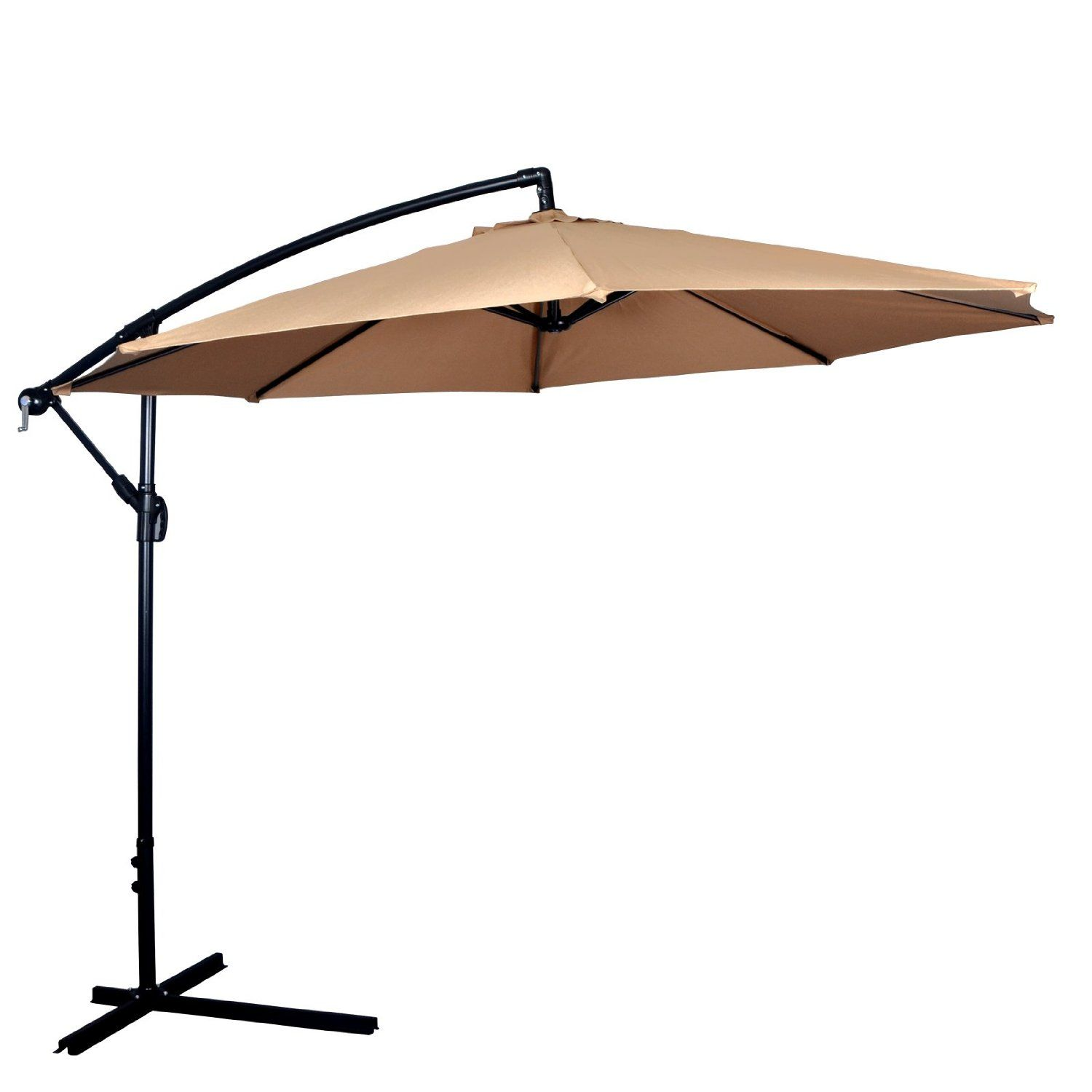 Amazon Com New Tan Patio Umbrella Offset 10 Hanging Umbrella Outdoor Market Umbrella D10 Patio Lawn Garden Offset Patio Umbrella Best Patio Umbrella Patio Umbrellas