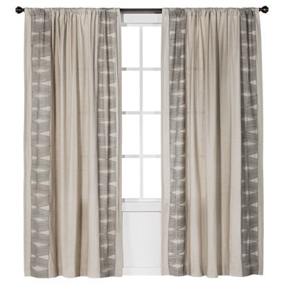 Love the curtains - Target - Nate Berkus™ Embroidered Window Panel
