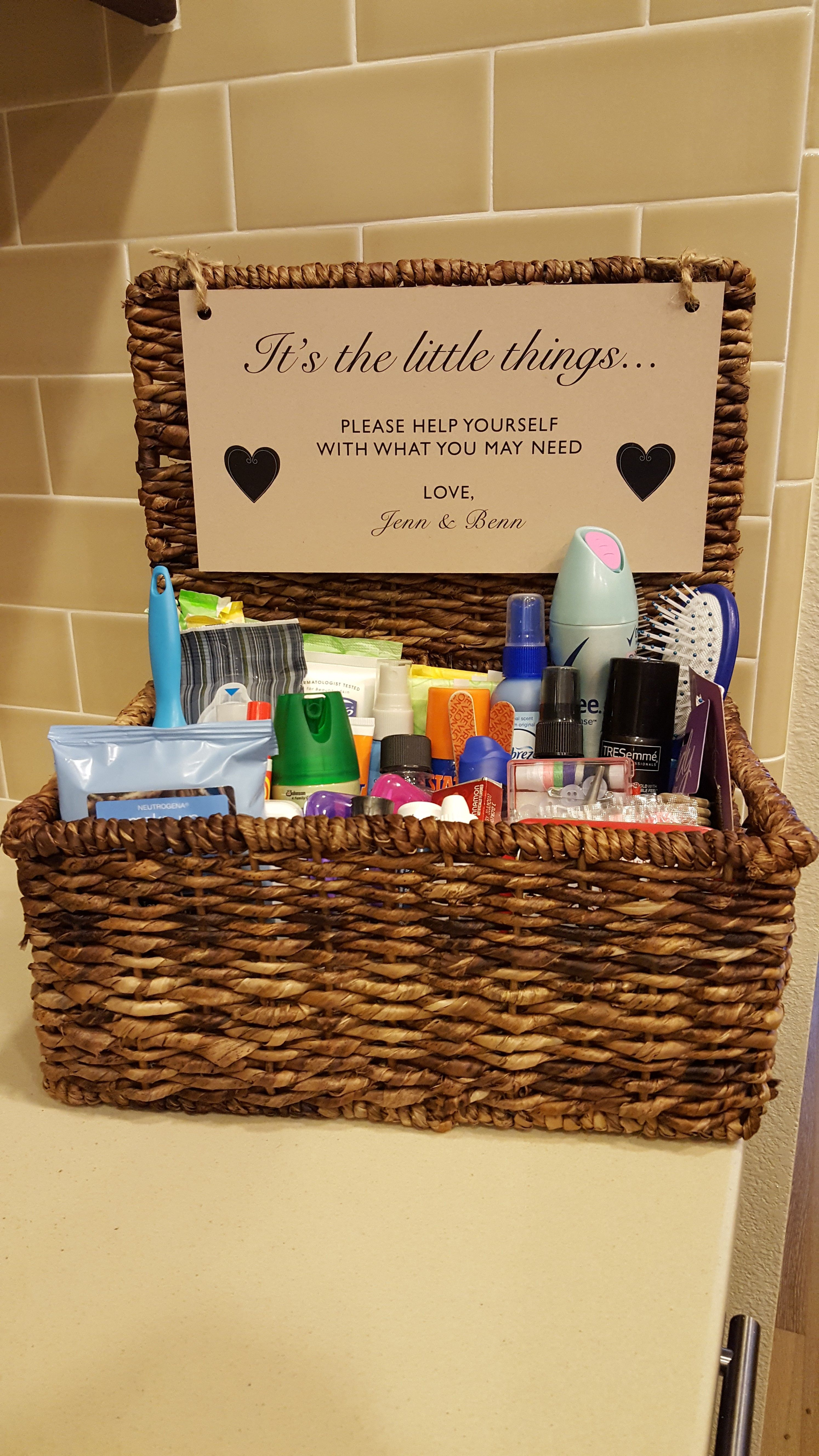 Unusual Wedding Favours, What To Put In Bathroom Baskets