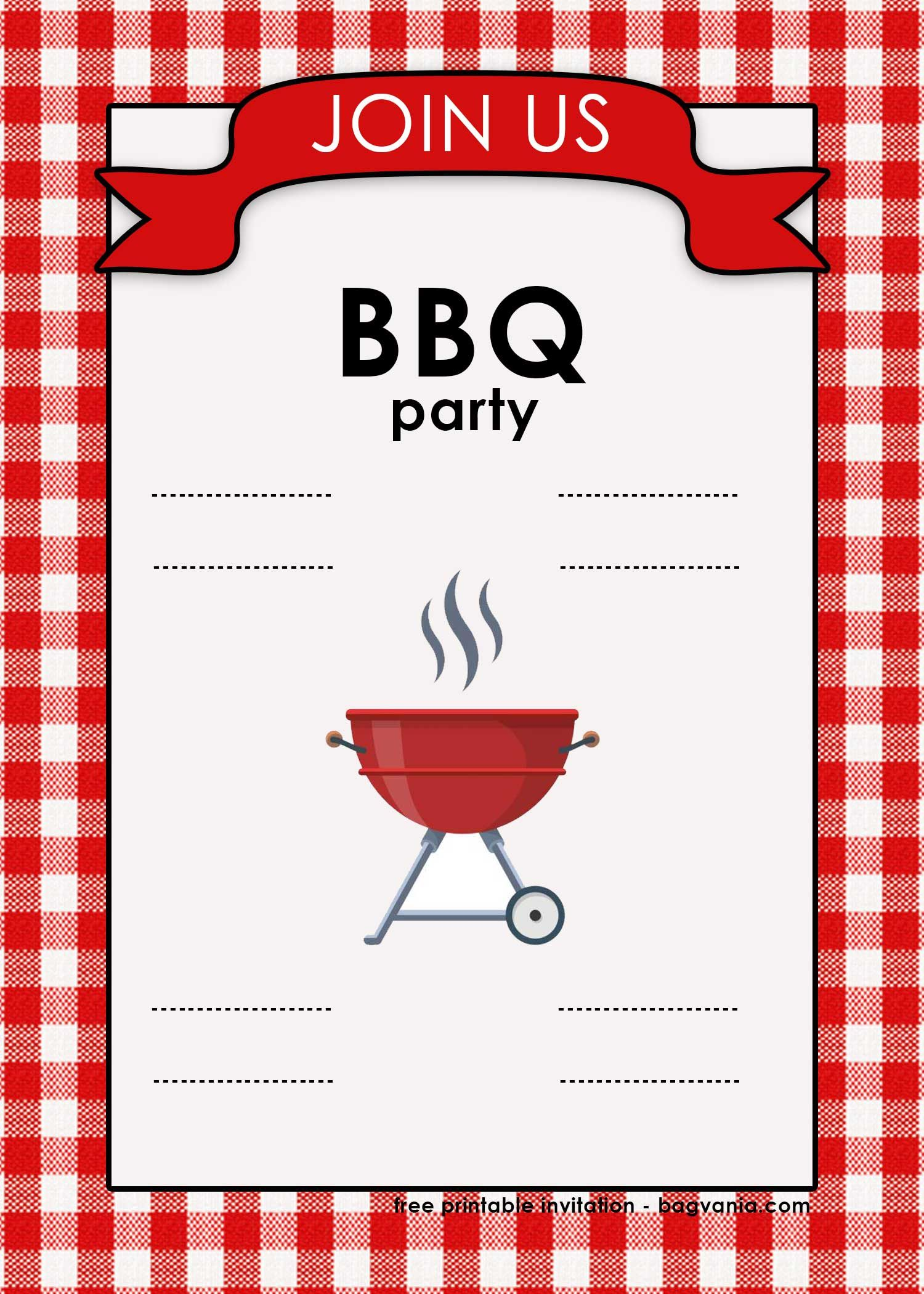 photo about Free Printable Bbq Invitations named Totally free Printable BBQ Invitation Template for Your Get-togethers