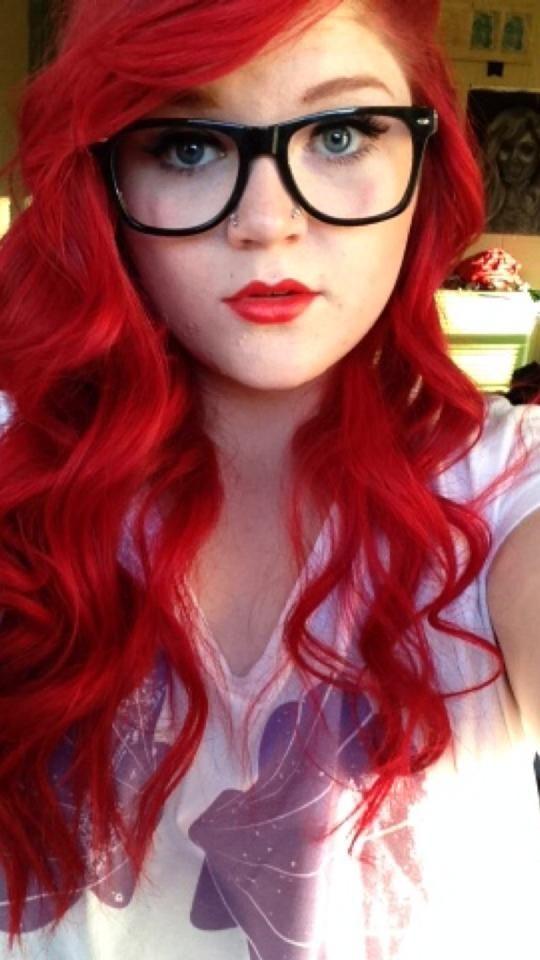 Splat Luscious Raspberries Redhair Curlyhair Wavyhair Gles Redlipstick