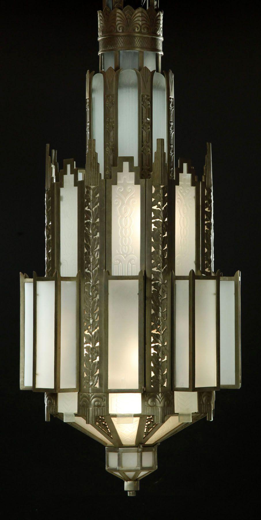 art d co luminaire lustre ann es 30 art deco art. Black Bedroom Furniture Sets. Home Design Ideas