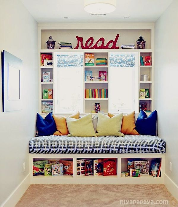 Awesome Window Seats With Storage Ideas Part - 7: Window Seat Storage Ideas For Kids Reading Area
